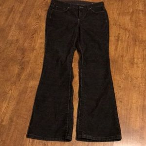 Ashley Judd Black Corduroy Pants 6 Short